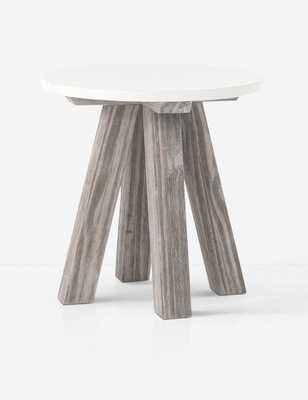 OXEN SIDE TABLE, WEATHERED PINE - Lulu and Georgia