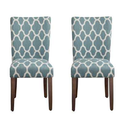 Conde Upholstered 2 Pieces Dining Chair, Navy (set of 2) - Wayfair