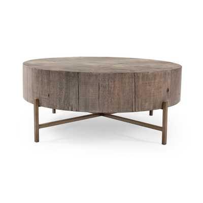 Tinsley Coffee Table in Distressed Grey - Burke Decor