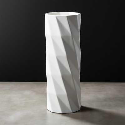 Zig Tall White Vase - CB2