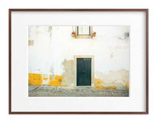"óbidos - 40"" x 30"" - Matted Walnut Wood Frame - Minted"