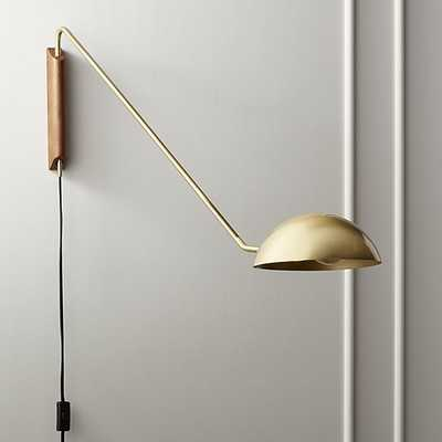 Mantis swivel wall sconce brass - CB2