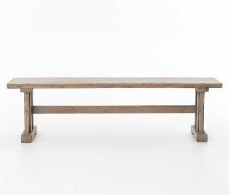 Tuscan Spring Dining Bench in Sundried Wheat - Burke Decor