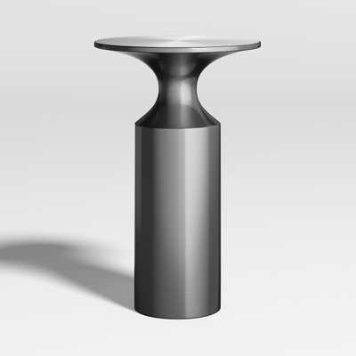 Valter Gunmetal Drink Table - Crate and Barrel