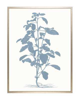 TONAL BLUE FLORAL 2 Framed Art - McGee & Co.