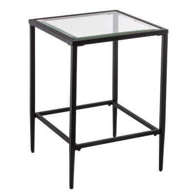 Nash Glass Top End Table - Wayfair