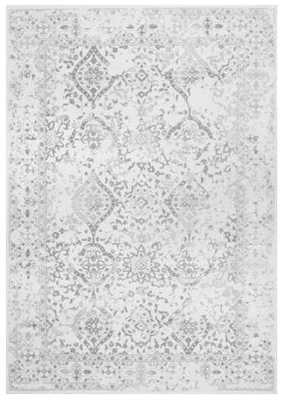 Youati Floral Ivory/Gray/Cream Area Rug - Birch Lane