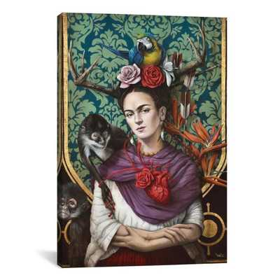 """Hommage a Frida (A Tribute To Frida) I"" by Sophie Wilkins Canvas Wall Art - Home Depot"