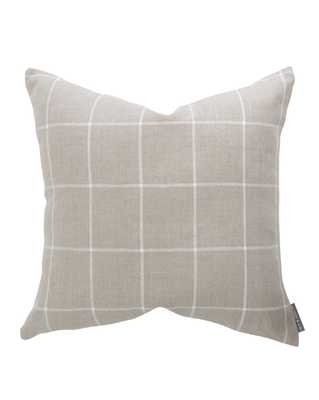 "TAFT PILLOW COVER WITHOUT INSERT, 20"" x 20"" - McGee & Co."