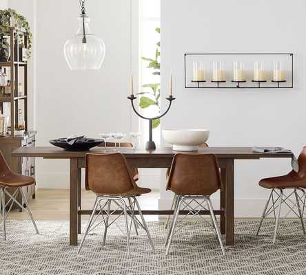 Mateo Extending Dining Table, Small, Salvaged Black - Pottery Barn