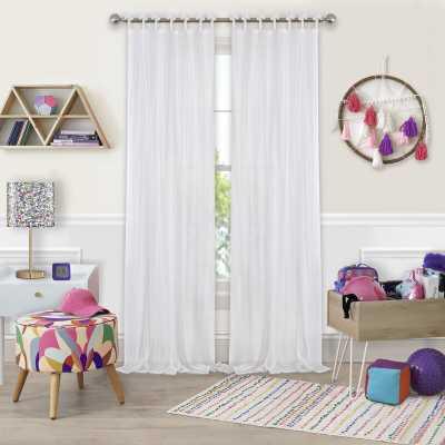 Erasma Solid Sheer Tab Top Single Curtain Panel - AllModern
