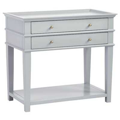 Grace 2 Drawer Open Shelf Side Table - Ballard Designs