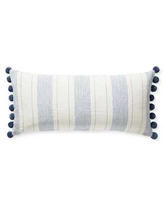 Luca Pillow Cover - washed indigo - 14x30 - Serena and Lily
