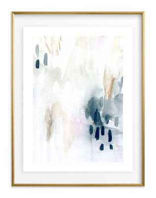 "ever softly framed art print- Size 30"" X 40""- Gilded Wood Frame- Midnight- Float mounted - Minted"