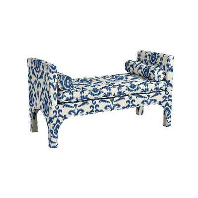 Jackson Bench - Amal Blue sunbrella fabric - Ballard Designs