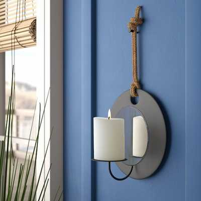 Metal Sconce with Rope and Mirror - Wayfair