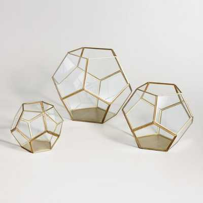 Brass Geo Terrarium: Metallic - Glass  - Small by World Market Small - World Market/Cost Plus