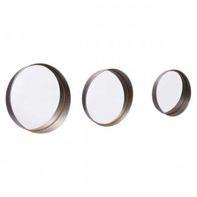 Circa Set Of 3 Mirrors Antique - Zuri Studios