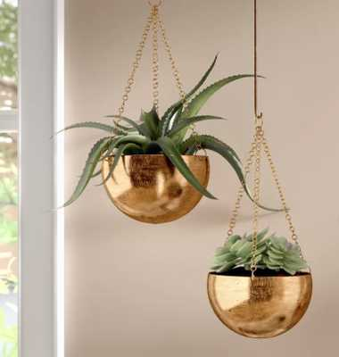 Engelman Modern 2-Piece Metal Hanging Planter Set - Wayfair