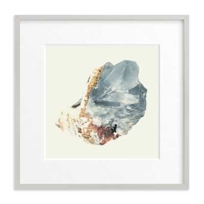 "rock study 2 fluorite - 16""x16"" matted w/ light gray wood frame - Minted"