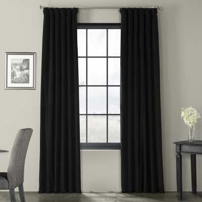 Albert Velvet Solid Blackout Rod Pocket Single Curtain Panel - Wayfair