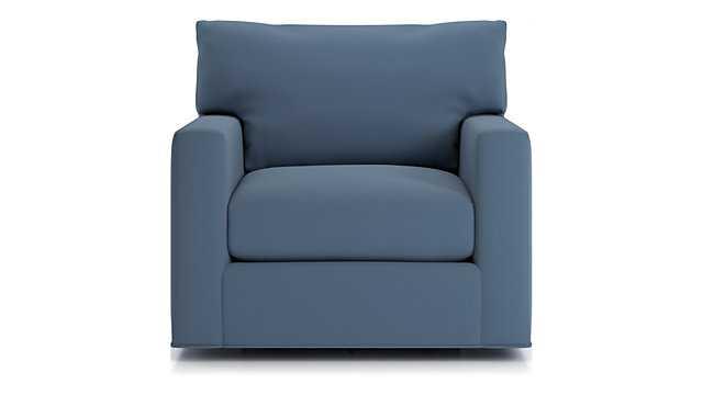Axis II Swivel Chair - Douglas Indigo - Crate and Barrel