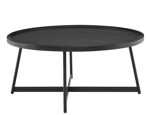 GWENETH ROUND COFFEE TABLE, BLACK ASH - Lulu and Georgia