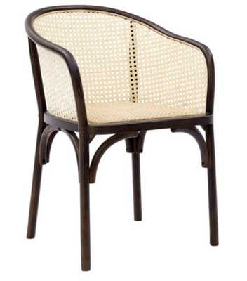 Black Wood And Rattan Dora Dining Armchairs Set Of 2 - World Market/Cost Plus