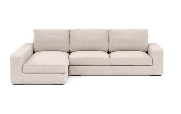Ainsley Sectional Sofa with Left Chaise / Wheat Cross Weave - Interior Define