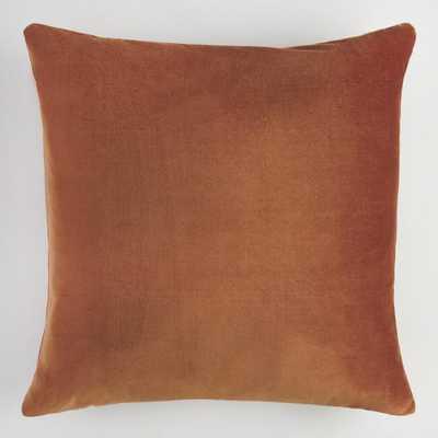 Copper Velvet Throw Pillow - World Market/Cost Plus
