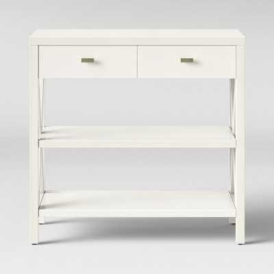 Owings Console Table with 2 Shelves and Drawers- Off White - Threshold™ - Target