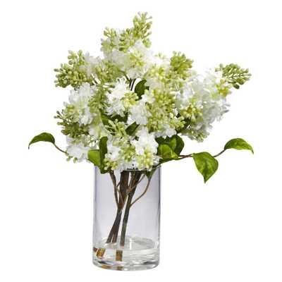 Lilac Silk Flower Arrangement - Fiddle + Bloom