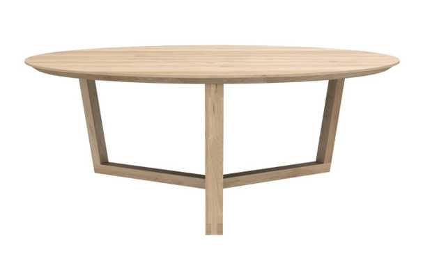 Tripod Coffee Table in Oak - Burke Decor