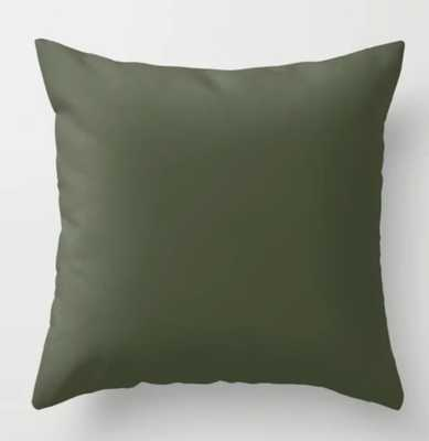 "Cedar Creek ~ Moss Green Throw Pillow- Indoor Cover (20"" x 20"") with pillow insert - Society6"