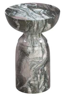 Alessandra Morgan and Blush Marble Side Table - Maren Home