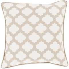 """Moroccan Printed Lattice, 18"""" Pillow with Down Insert - Neva Home"""