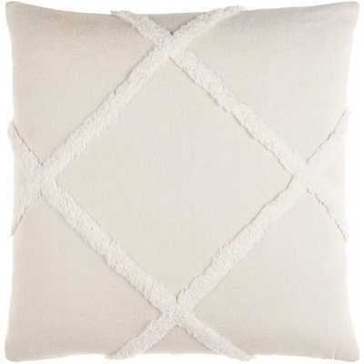 "Sarah 18"" Pillow with Down Insert - Neva Home"