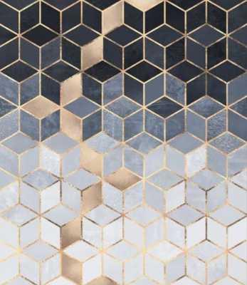 Soft Blue Gradient Cubes Canvas Print - Society6
