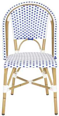 Arlo Home Salcha Blue and White Outdoor Dining Chair (Pack of 2) - Arlo Home