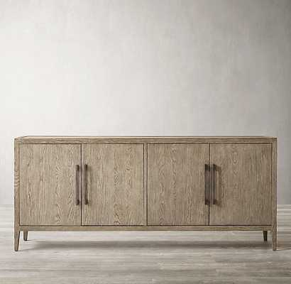 FRENCH CONTEMPORARY PANEL 4-DOOR SIDEBOARD - RH