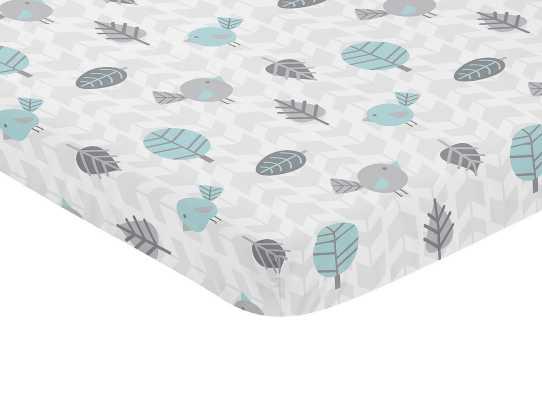 Earth and Sky Mini Fitted Crib Sheet - Wayfair