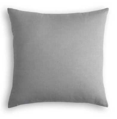 """Cement Classic Linen Throw Pillow 22"""" - Linen & Seam"""