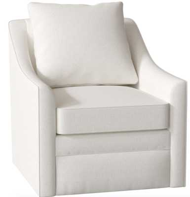 Quincy Swivel Armchair Bevin Natural - Wayfair