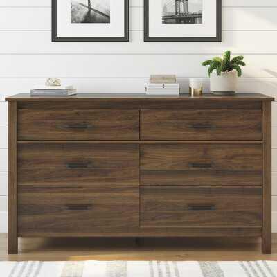 Valeria 6 Drawer Double Dresser - Walnut - Wayfair