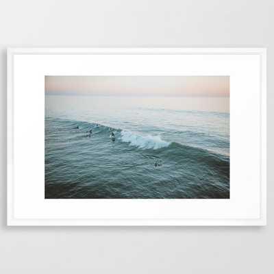 Let's Surf V Framed Art Print - Society6