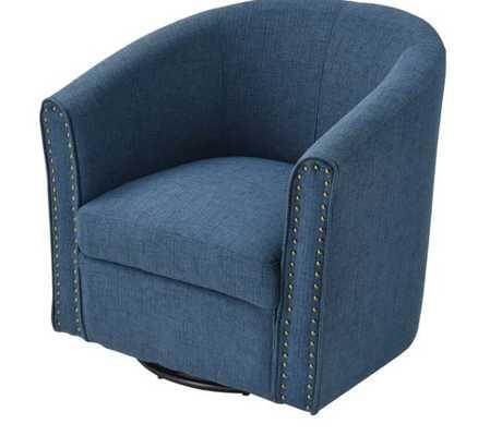 Laussat Linen Swivel Barrel Chair - Wayfair