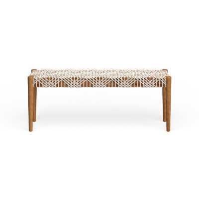 Safavieh Bandelier Off-White/ Light Oak Bench - Overstock