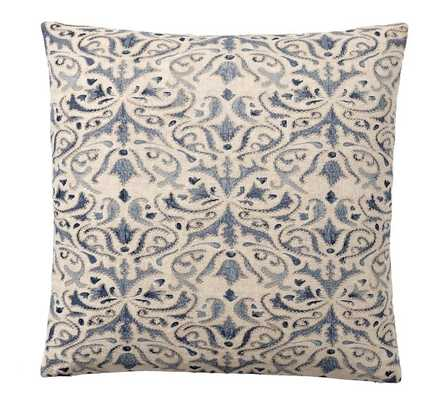 Reilley Linen Embroidered Pillow Covers - Pottery Barn