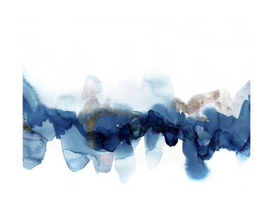 fractured horizon 1 - 30x40 - Black frame, indigo - Minted