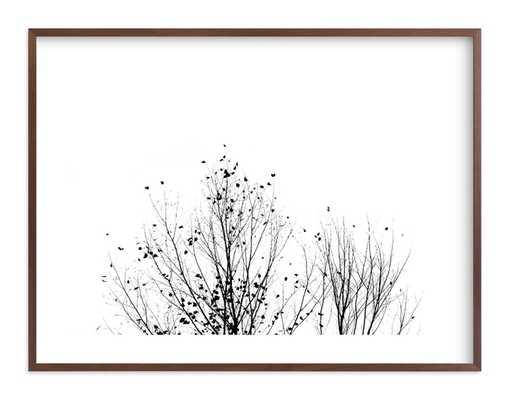Fly Fly Away, Night, 40 x 30, Walnut Frame - Minted